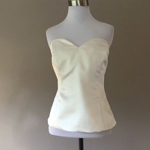 NWT White House Black Market Satin Bustier Top 8